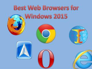Best Web Browsers for Windows 2015