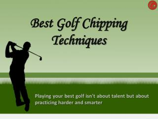 Tips for chipping in golf