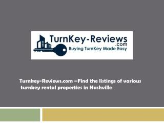 Turnkey-Reviews.com – Find the listings of turnkey property