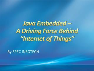 Java Embedded System