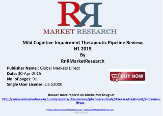 Mild Cognitive Impairment – Pipeline Review, H1 2015