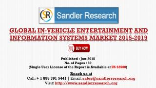 In-vehicle Entertainment and Information Systems Market to G