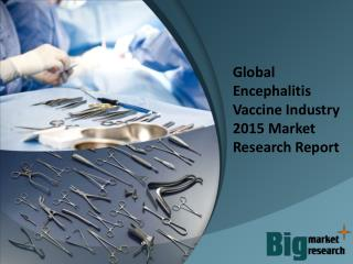 Global Encephalitis Vaccine Industry 2015 Market Research Re