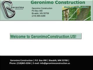 Zip Line Tours -Geronimo Construction