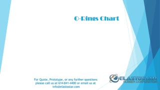 O Ring Chart