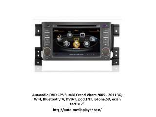 Autoradio DVD GPS Suzuki Grand Vitara 2005 - 2011 3G, WIFI,