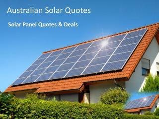 Australian Solar Quotes- Solar Panel Quotes & Deals