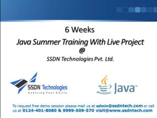 6 Weeks Summer Training Delhi Gurgaon