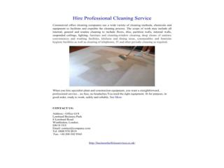 Hire Professional Cleaning Service
