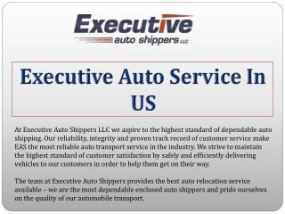 Executive Auto Service In US