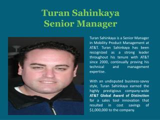 Turan Sahinkaya Senior Manager