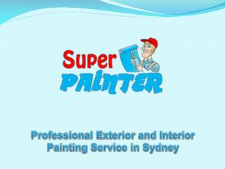 Professional Exterior and Interior Painting Service in Sydne