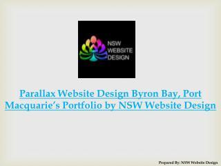 Parallax Website Design Byron Bay,Port Macquarie's Portfolio