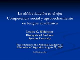La alfabetizaci n es el eje: Competencia social y aprovechamiento en lengua acad mica