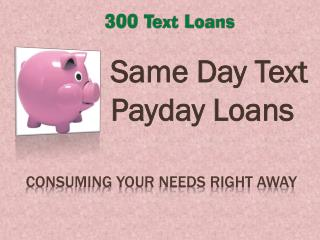 300 Text Loans @ http://www.300textloans.co/