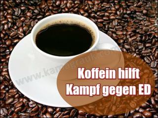 Koffein hilft Kampf gegen ED