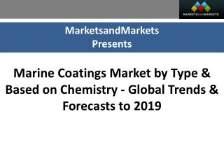Marine Coatings Market worth $10.4 Billion by 2019