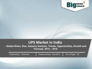 Fastest Growing Sector in UPS Market in India - 2019