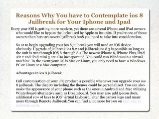 Best Way to Jailbreak iOS 8