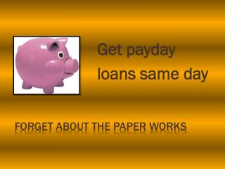 Unemployed loans same day payout @ http://www.unemployedloan