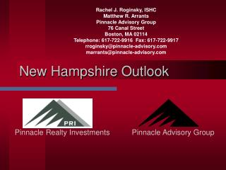New Hampshire Outlook