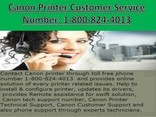 (1-800-824-4013) Canon Printer Customer Service Number