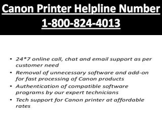 (1-800-824-4013) Canon Printer Helpline Number