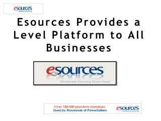 Esources Provides a Level Platform to All Businesses