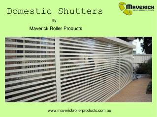 Domestic Roller Shutters
