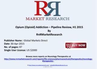 Opium (Opioid) Addiction – Pipeline Review, H1 2015