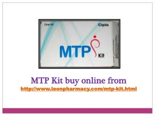 Buy Mtp kit online at affordable prices