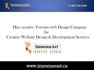 Toronto web design company_website design development servic
