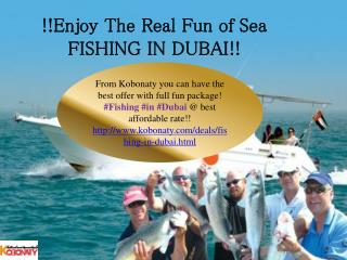 Fishing In Dubai@ Best Discount Rate