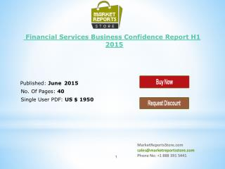 Financial Services of Business Confidence Research & Forecas