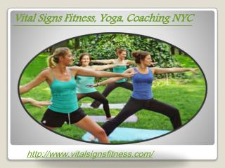 Yoga NYC Upper East Side | Vital Signs Fitness, Yoga, Coachi