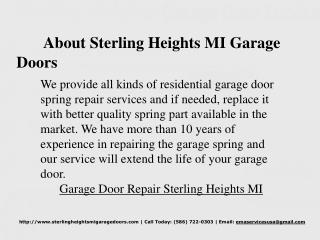 Garage Door Repair Sterling Heights MI