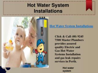 Hot water System Prices
