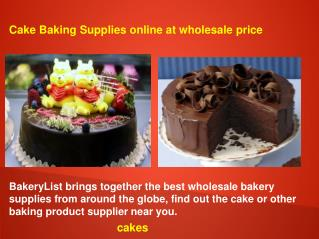 Cake Baking Supplies online at wholesale price