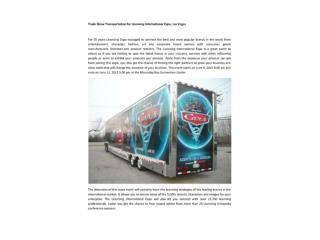 Trade Show Transportation for Licensing International Exp
