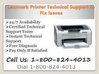 1-800-824-4013 Lexmark Printer Tech Support Install Driver