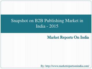 Snapshot on B2B Publishing Market in India - 2015