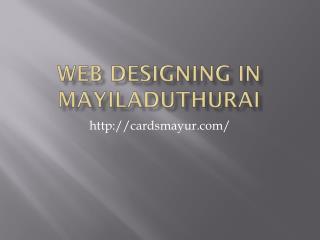 web designing in Mayiladuthurai