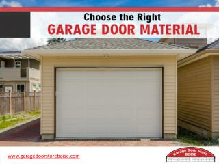 Tips to Choose the Best Garage Door in Boise