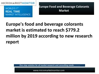 Europe Food and Beverage Colorants Market
