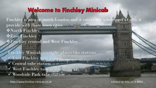 Taxi & Minicab Service in Finchley