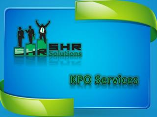 SHR Solution KPO Services Pvt Ltd