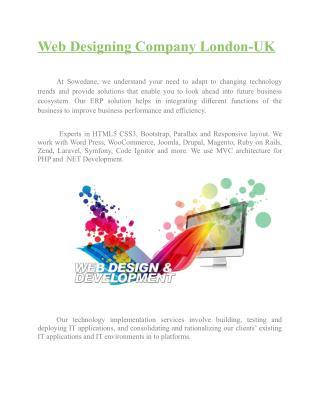 Web Designing Company London-UK