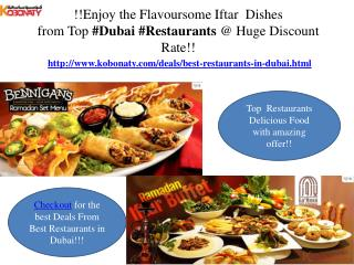 Dubai Restaurants @ cheap price!!