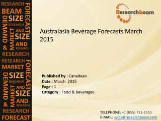 Australasia Beverage Market Size, Trends, Insight, Analysis