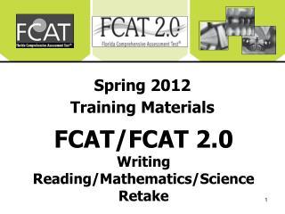 Spring 2012 Training Materials